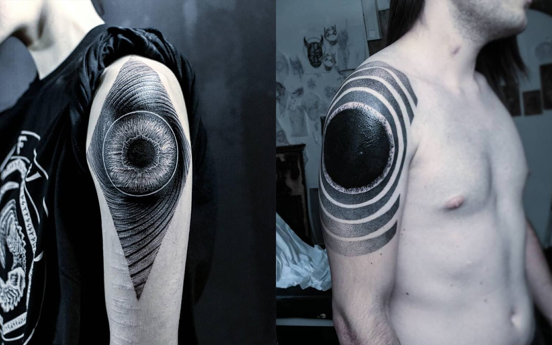 dark circle tattoos on arms