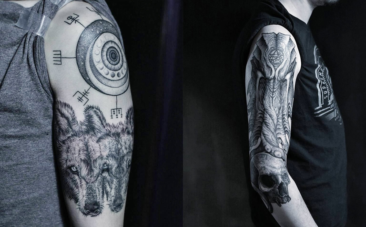 esoteric tattoos on arms