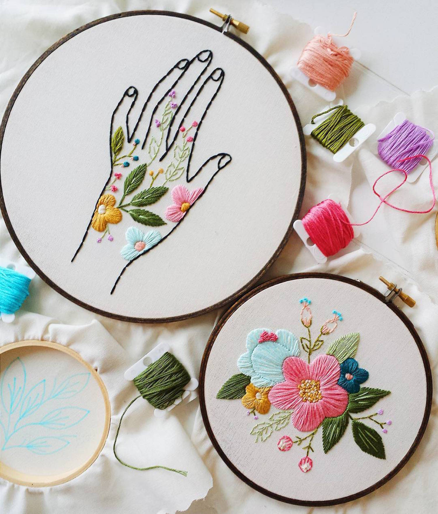 Embroidery by Cinder & Honey