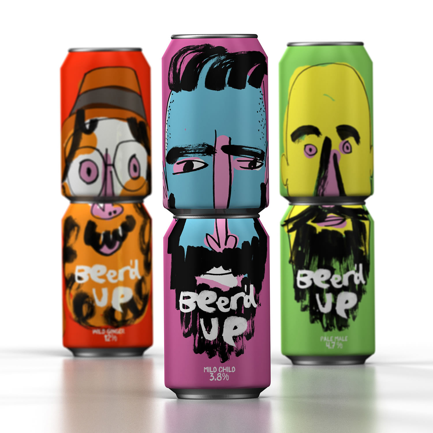 Beer'd Up Beer packaging by Springetts Brand Design Consultants