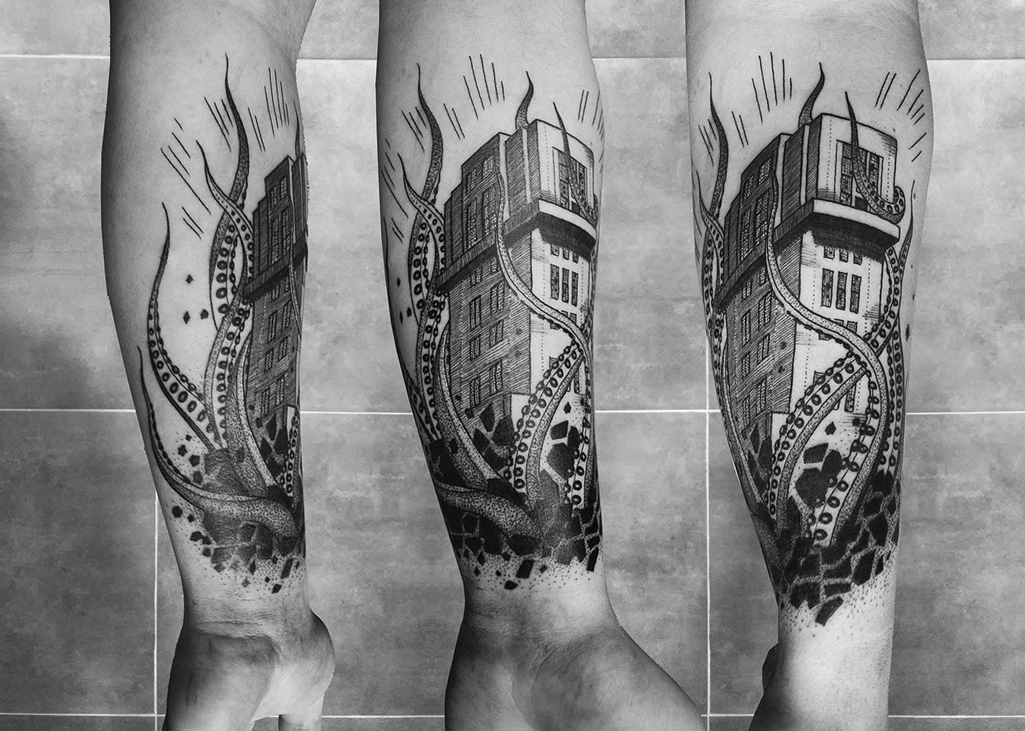 Architect Turned Tattoo Artist Builds Structured Imagery