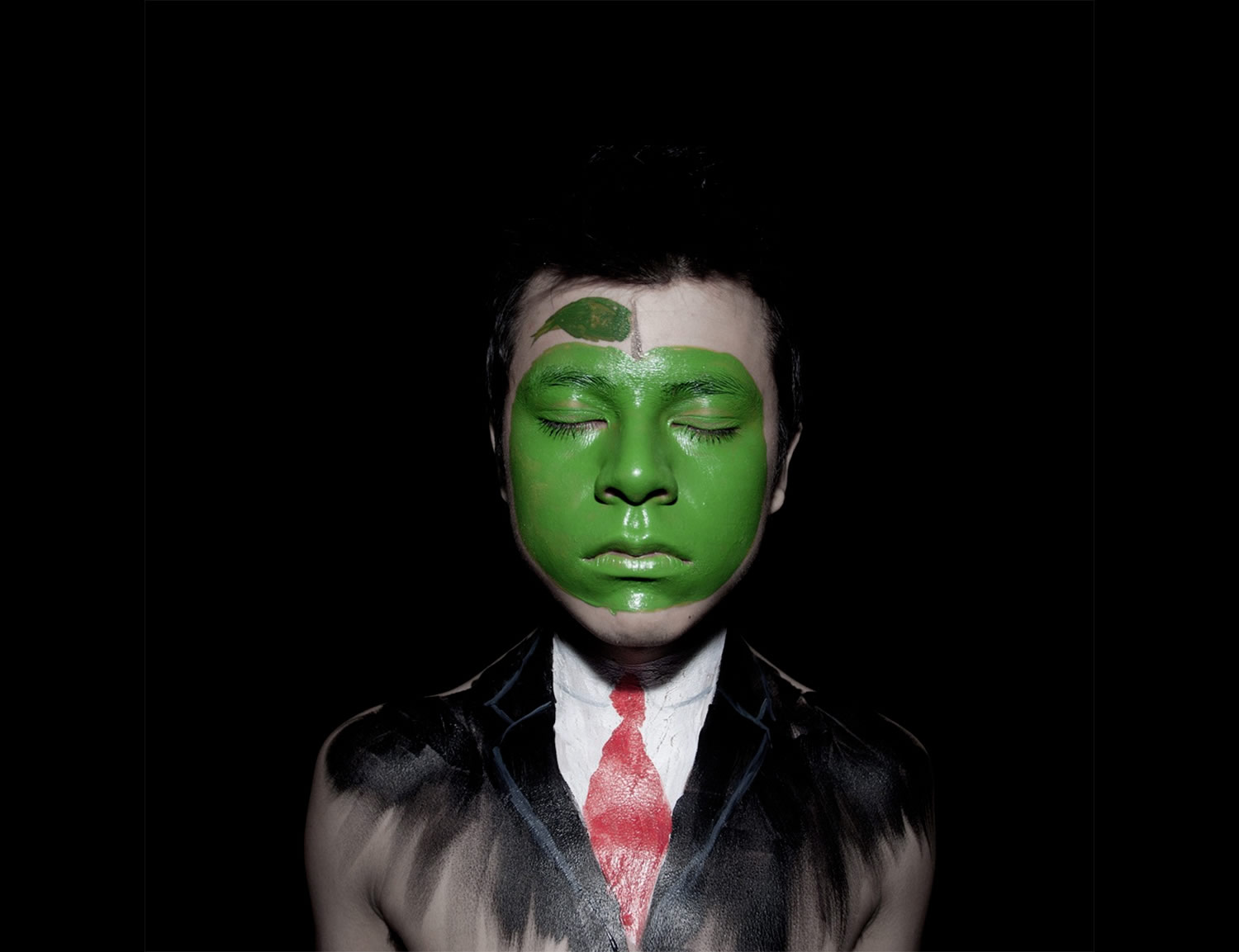 son of man face painting by Andy Alcala