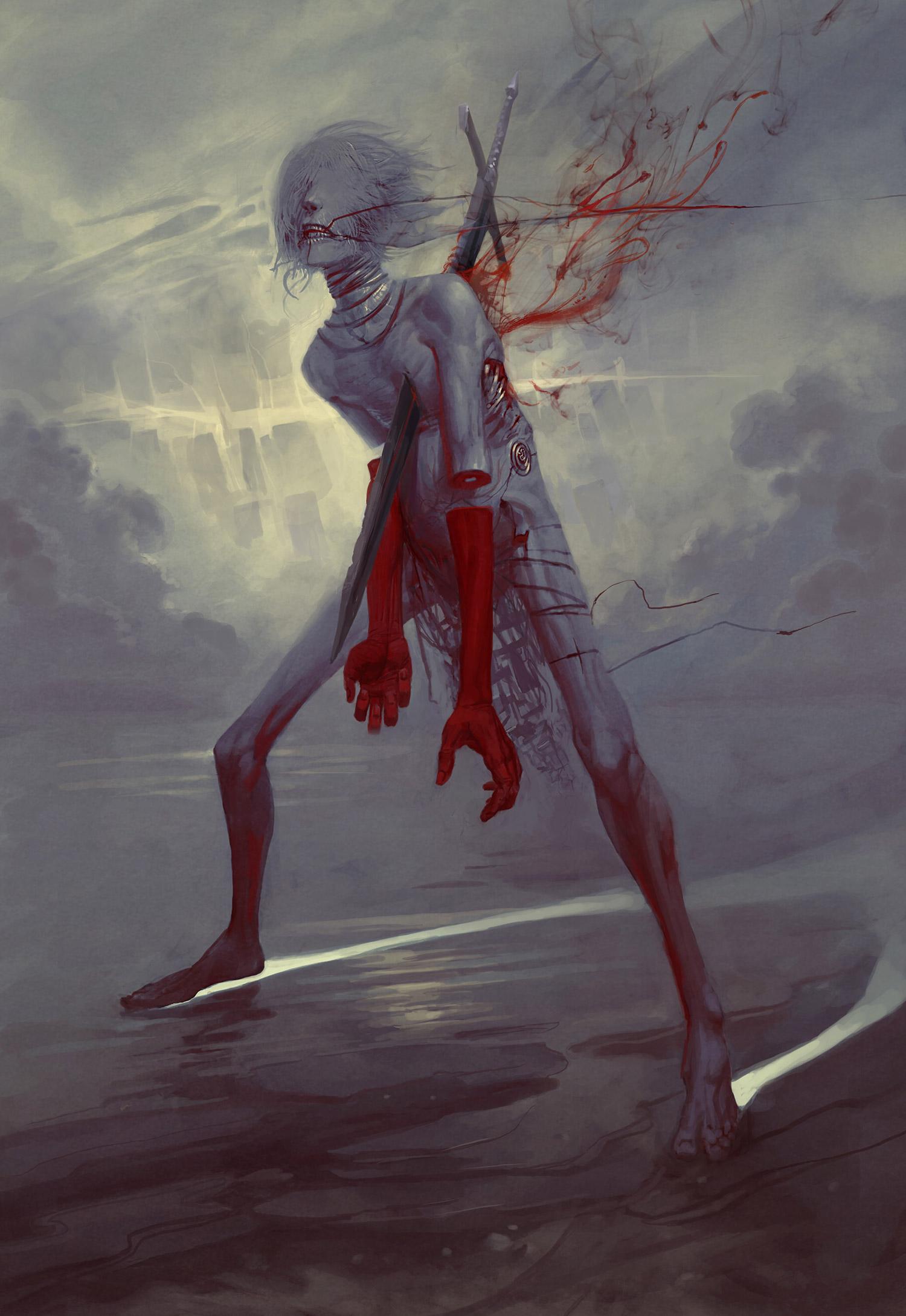 Peter Mohrbacher, Angelarium - Af, Angel of Anger