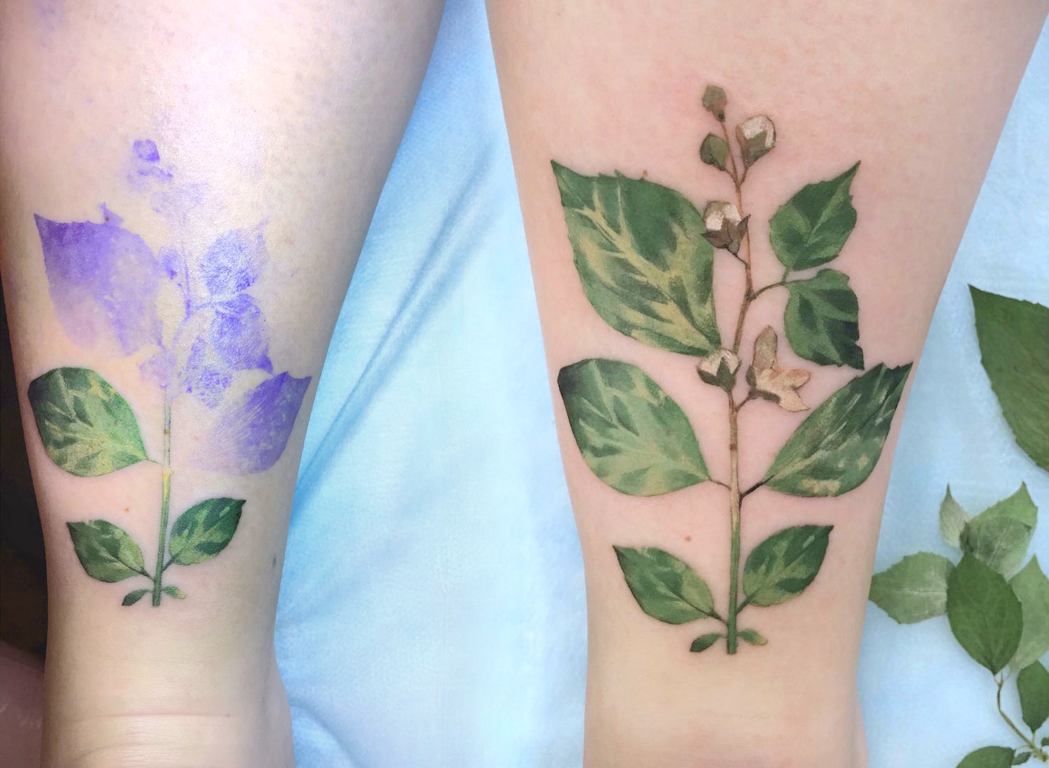 Live leaf tattoo by Rit Kit