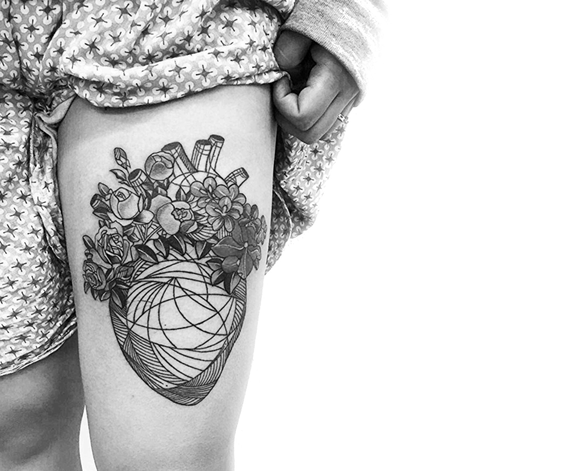 Continuous Line Tattoos in Constant Motion by Stan Bree