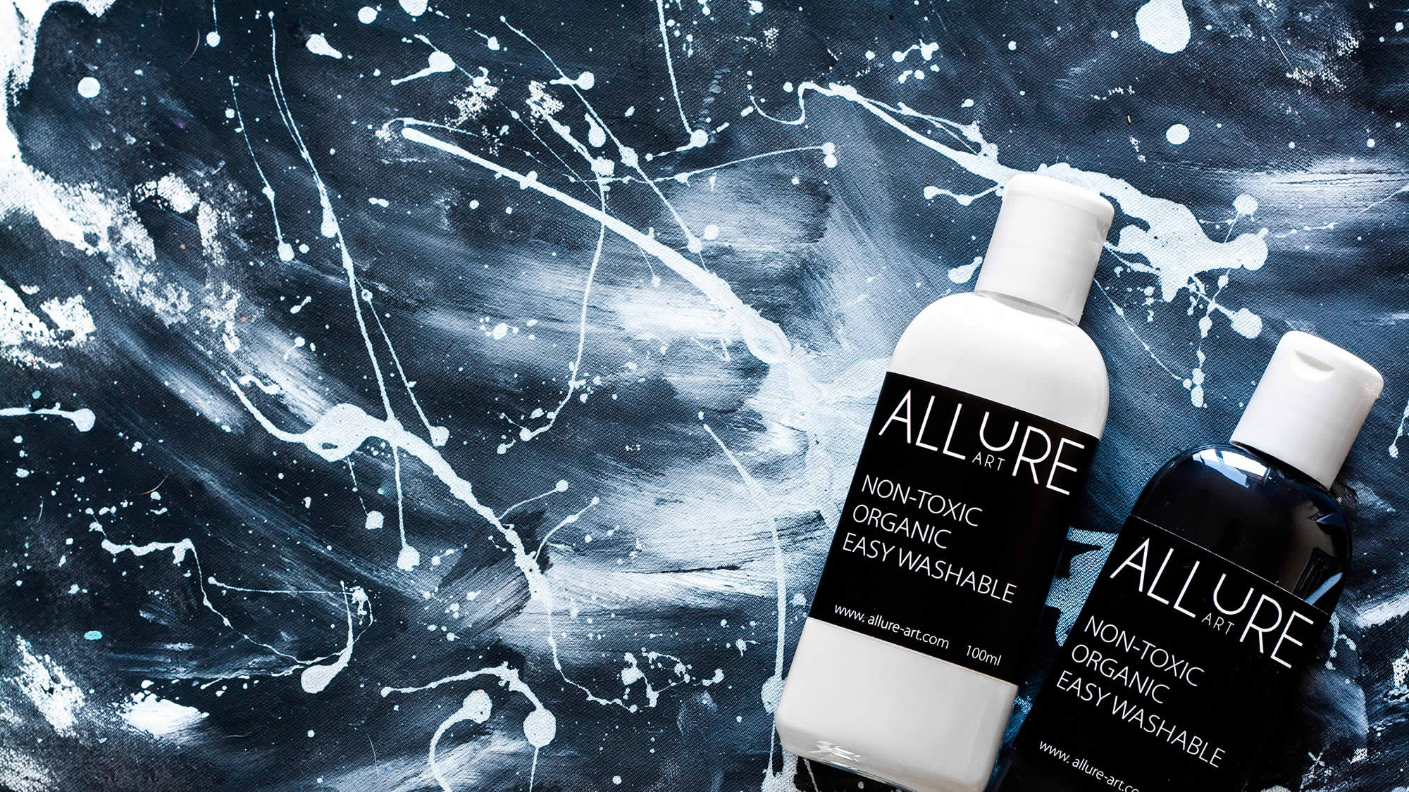 allure art, black and white paint kit