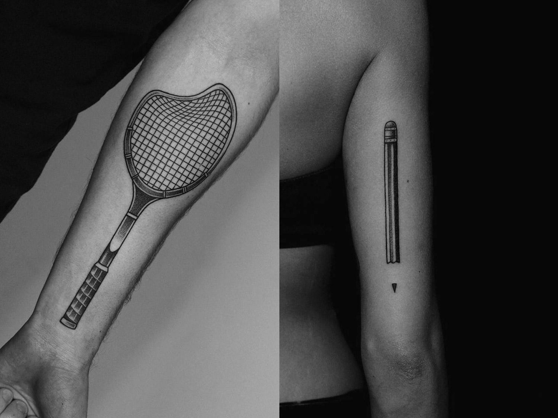 tattoos on arms by ilya brezinski