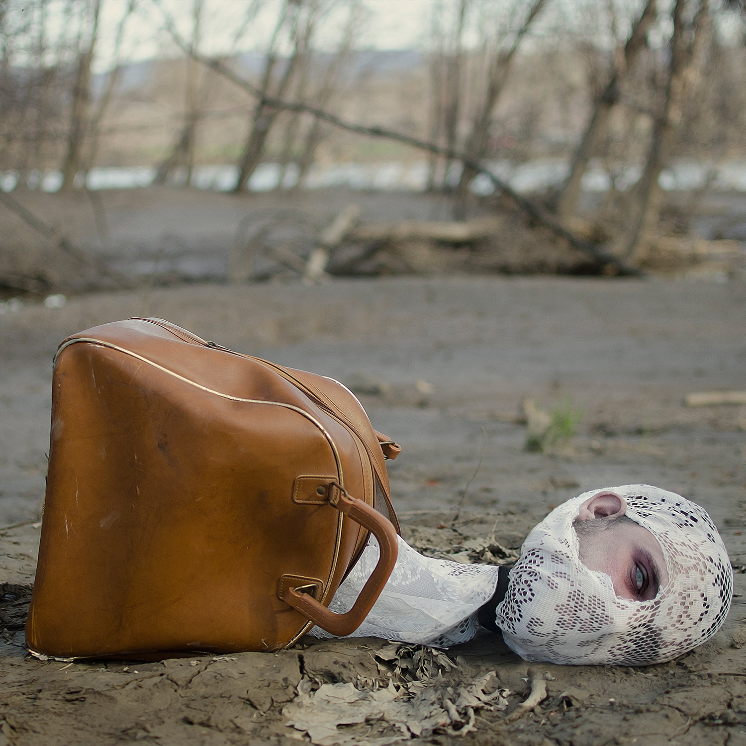 Christopher McKenney - head wrapped in lace