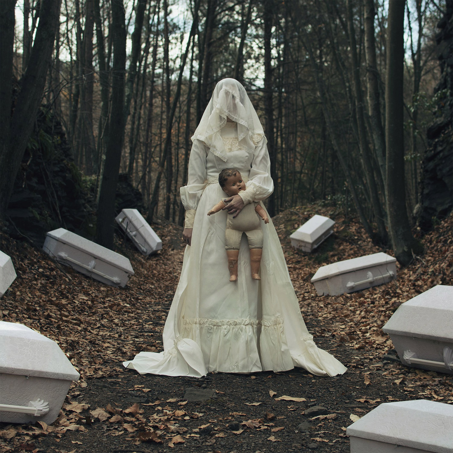 Christopher McKenney - coffins and white figure