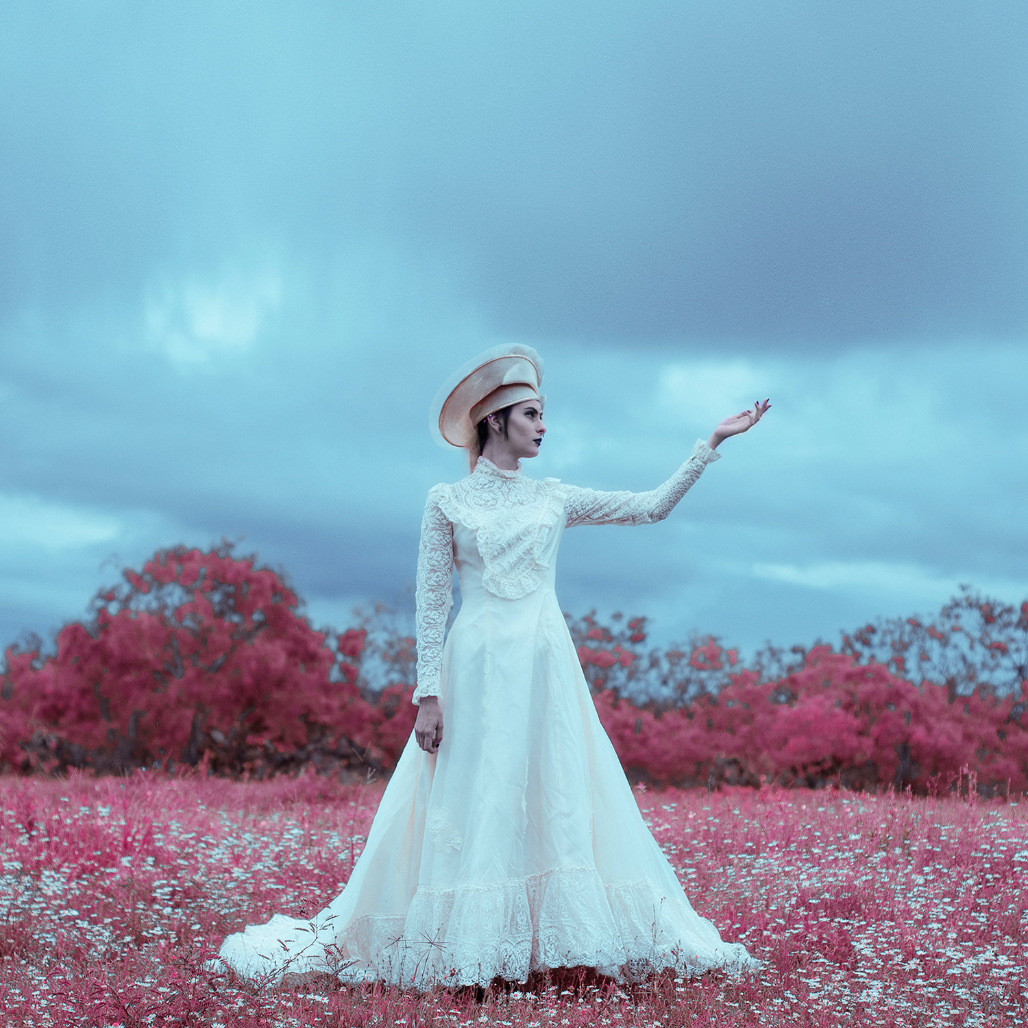 Christopher McKenney - white figure in pink field