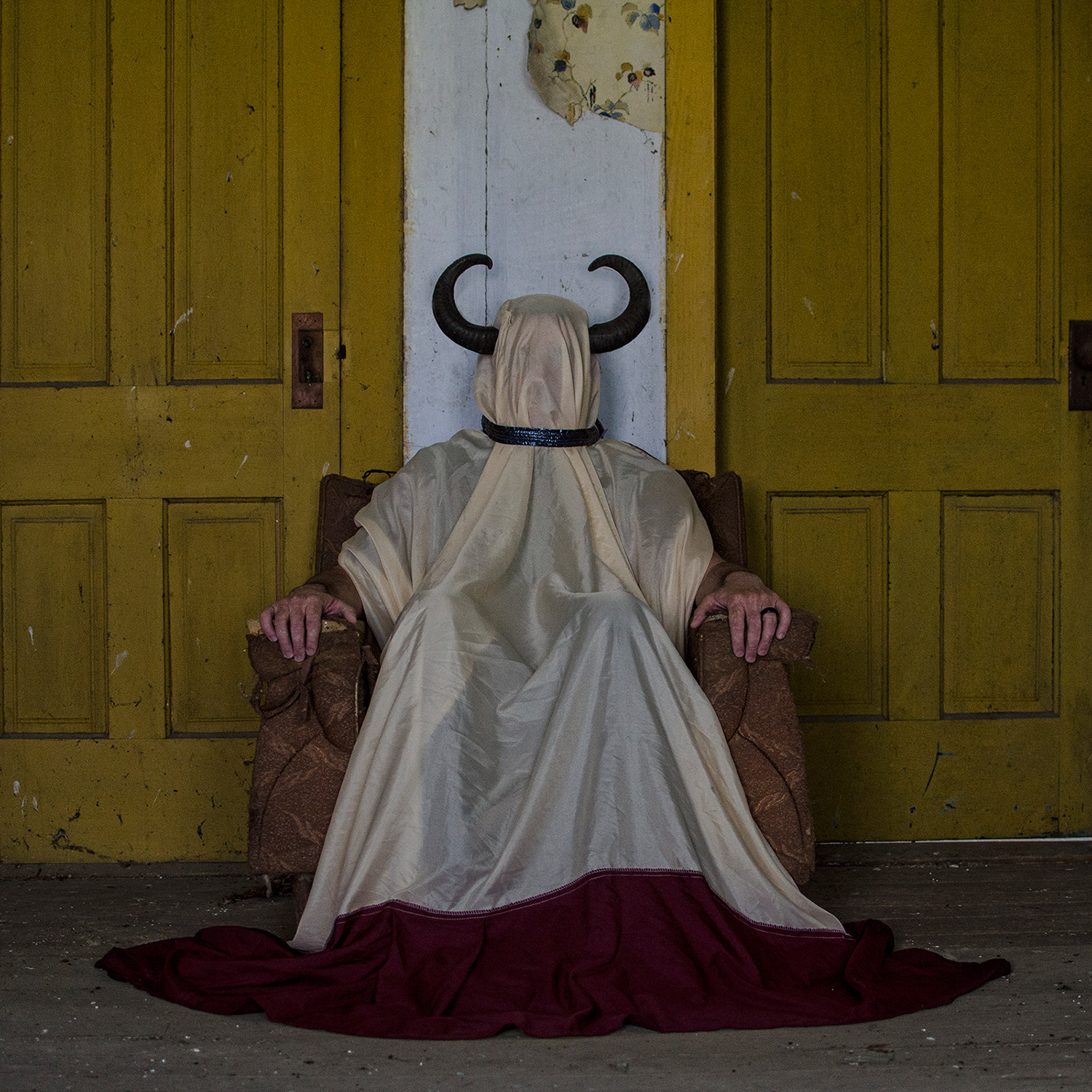 Christopher McKenney - horned figure in cloak