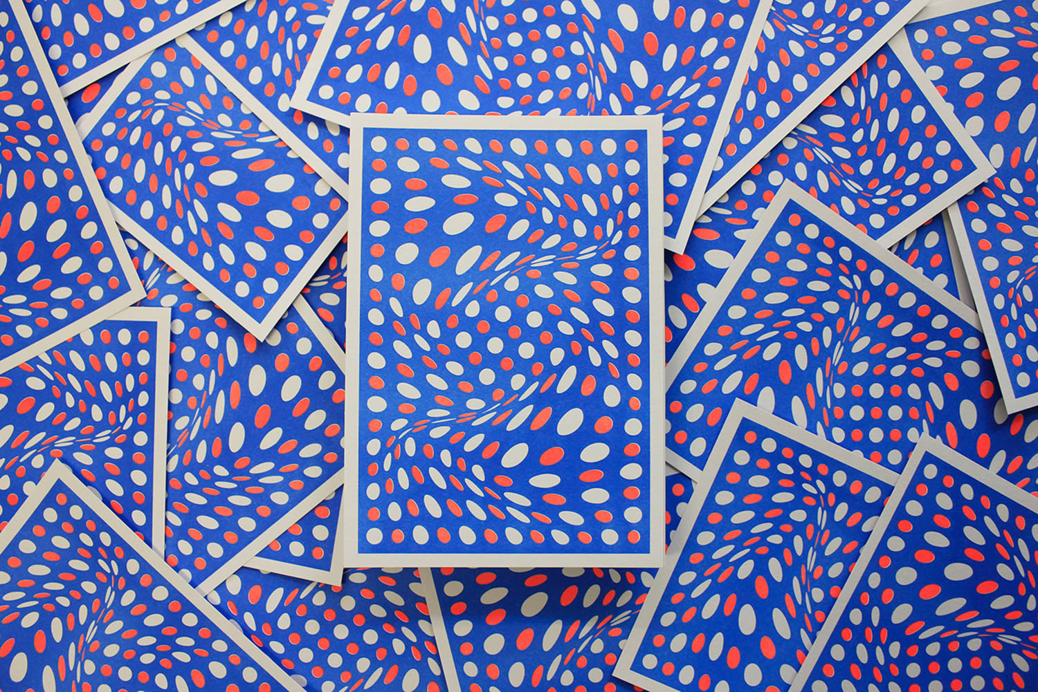 pool, op art, poster design with moving dots