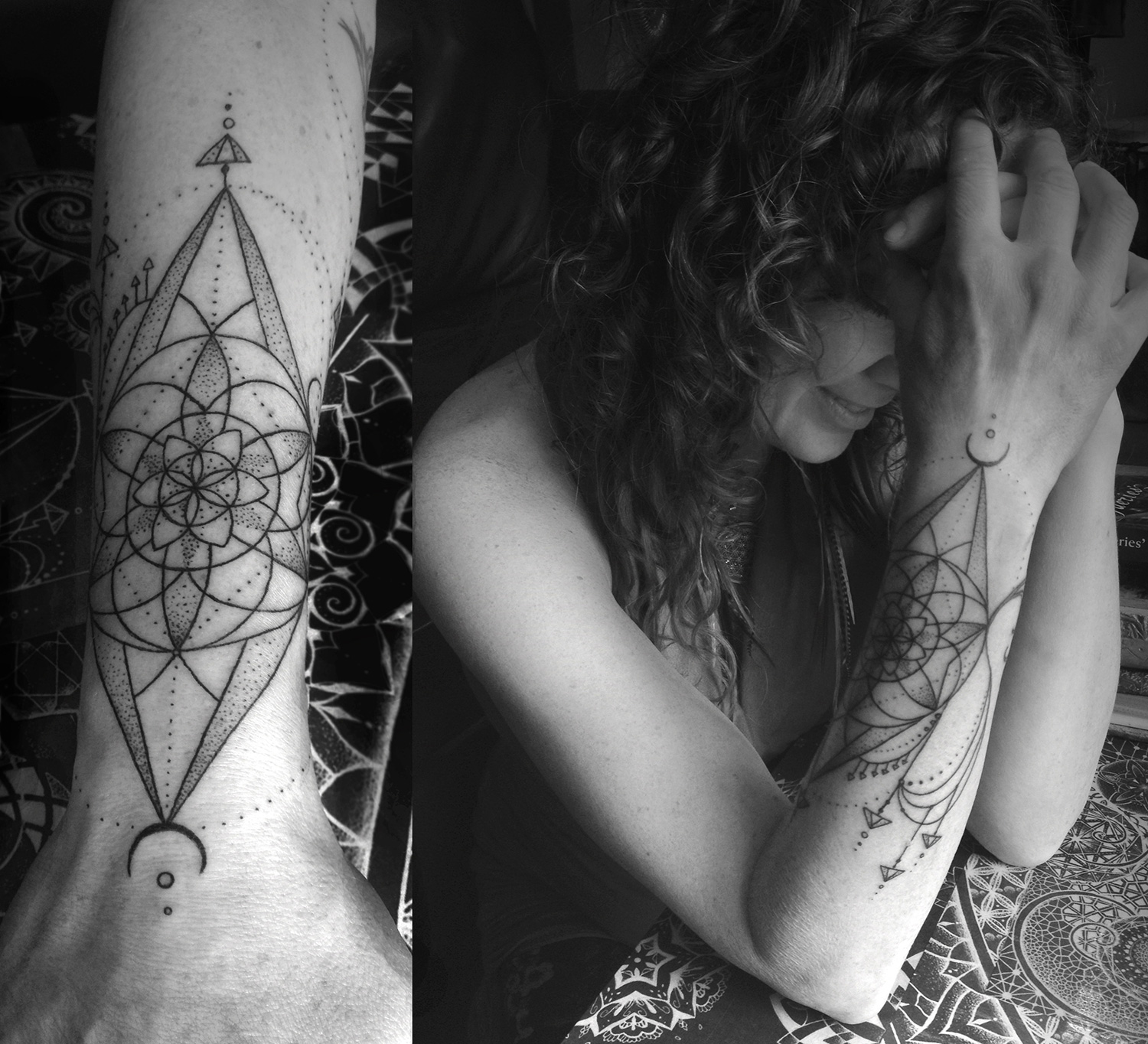 Katia Somerville - Sherry, mandala arm tattoo