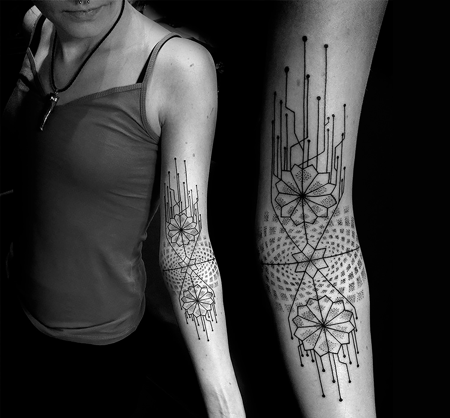 Katia Somerville - Darci, arm mandala tattoo
