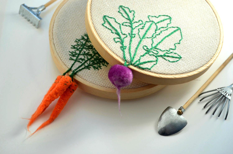 carrot hoop art by veselka bulkan