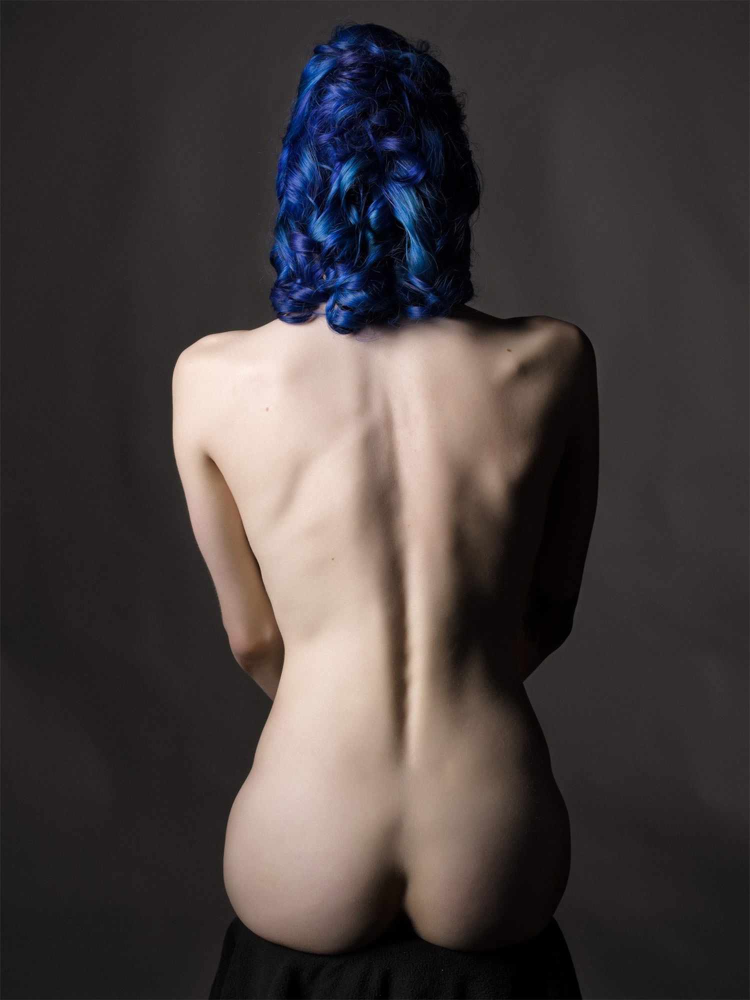 Camille nude study #2 by bruce walker, nude study, surrealist style