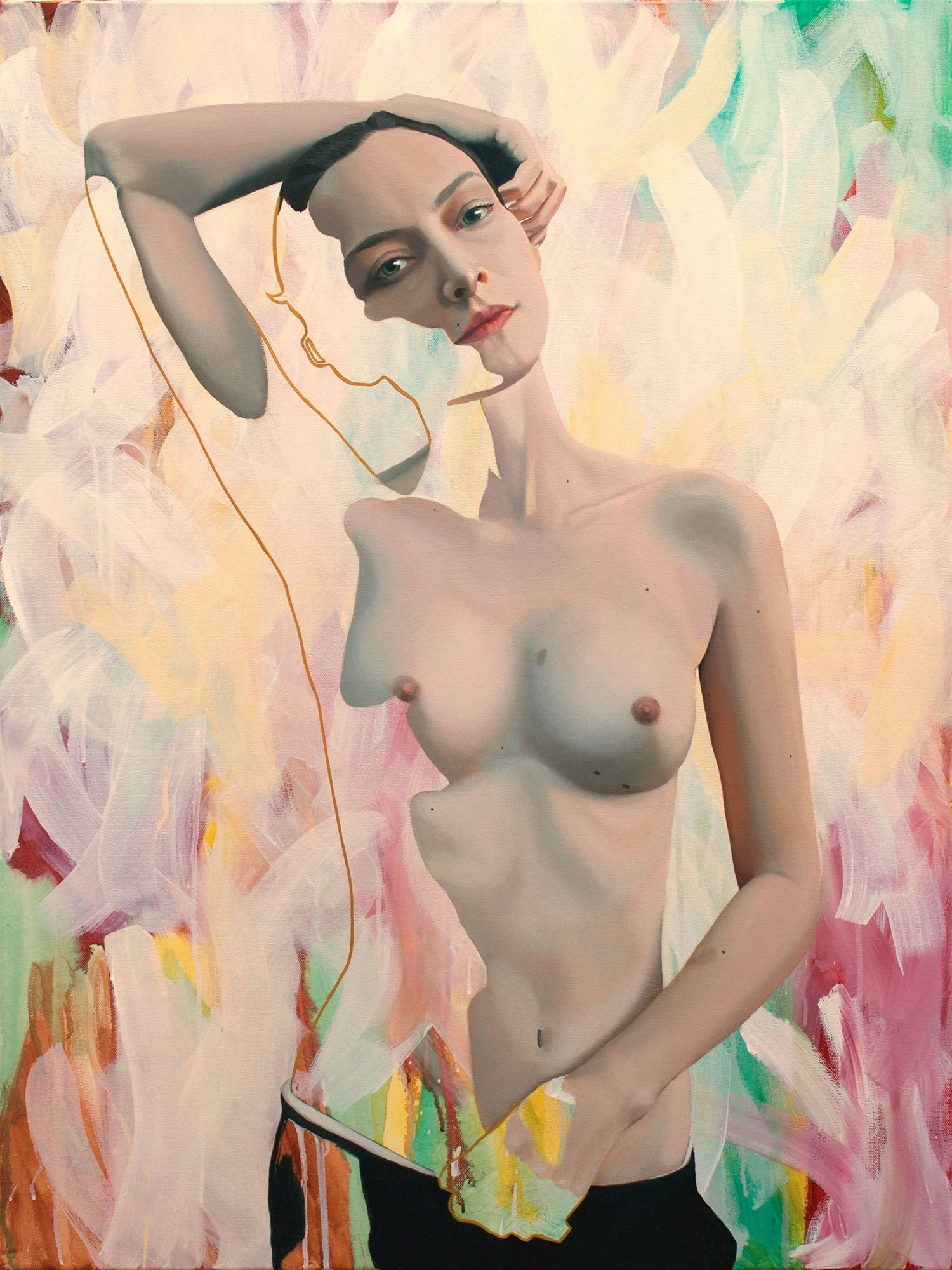 female nude painting by Kim Leutwyler