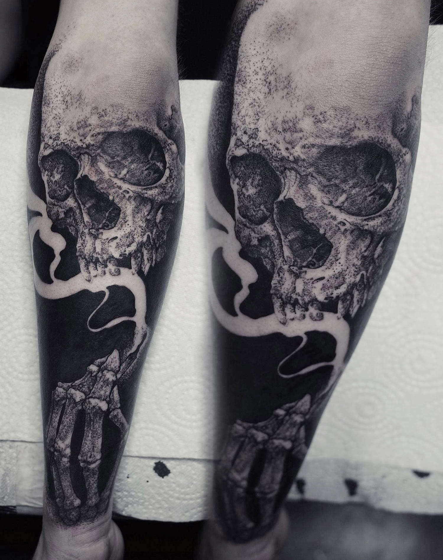 Robert Borbas, Tattoo - skull