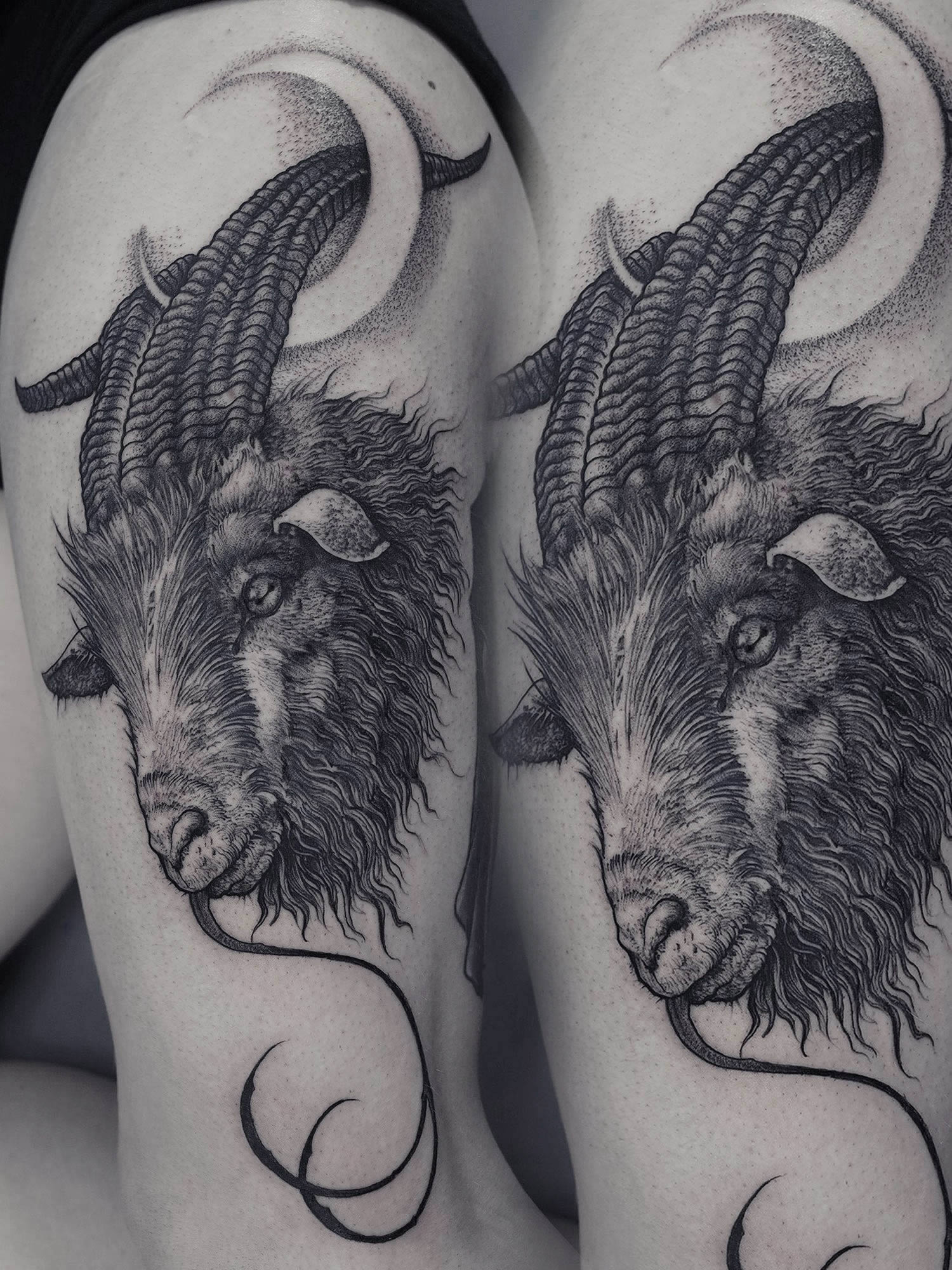 Robert Borbas, Tattoo - goat