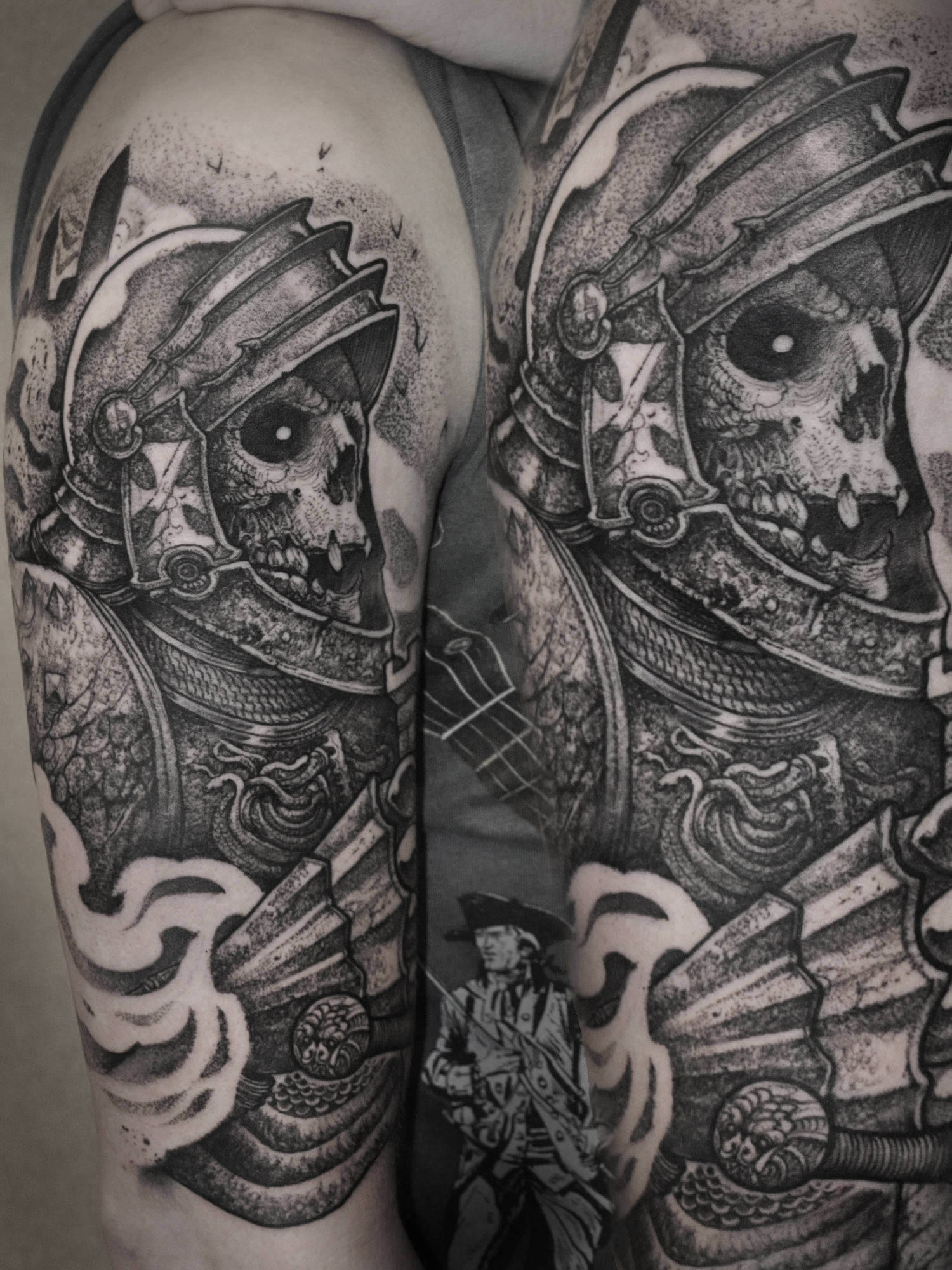 Robert Borbas, Tattoo - skeleton warrior