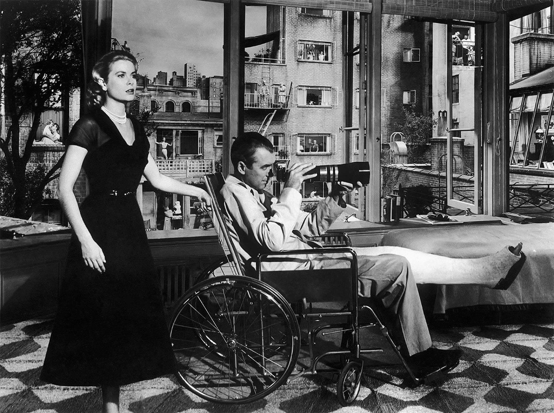 grace kelly and James Stewart, Rear Window