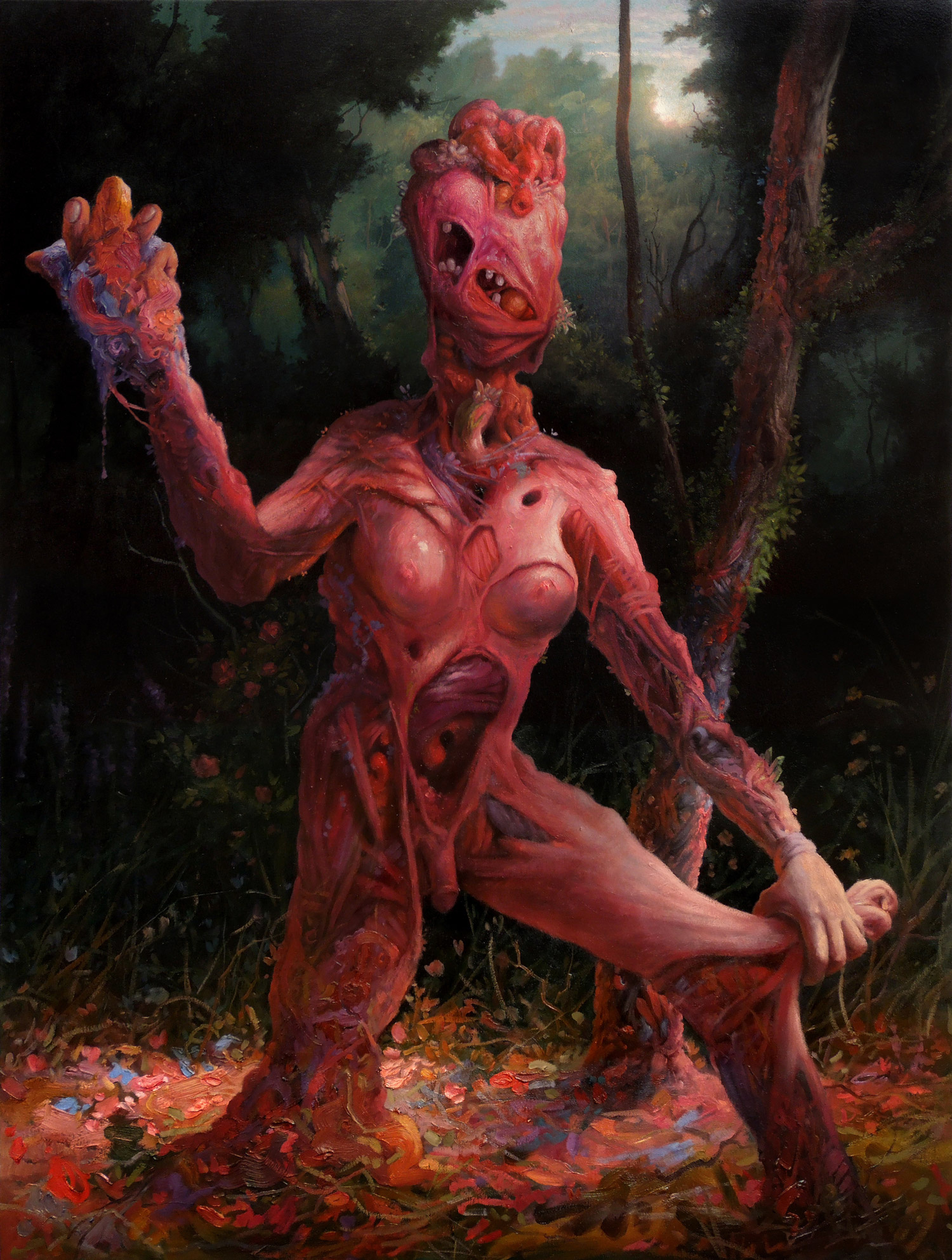 Adrian Cox, painting - New Skin