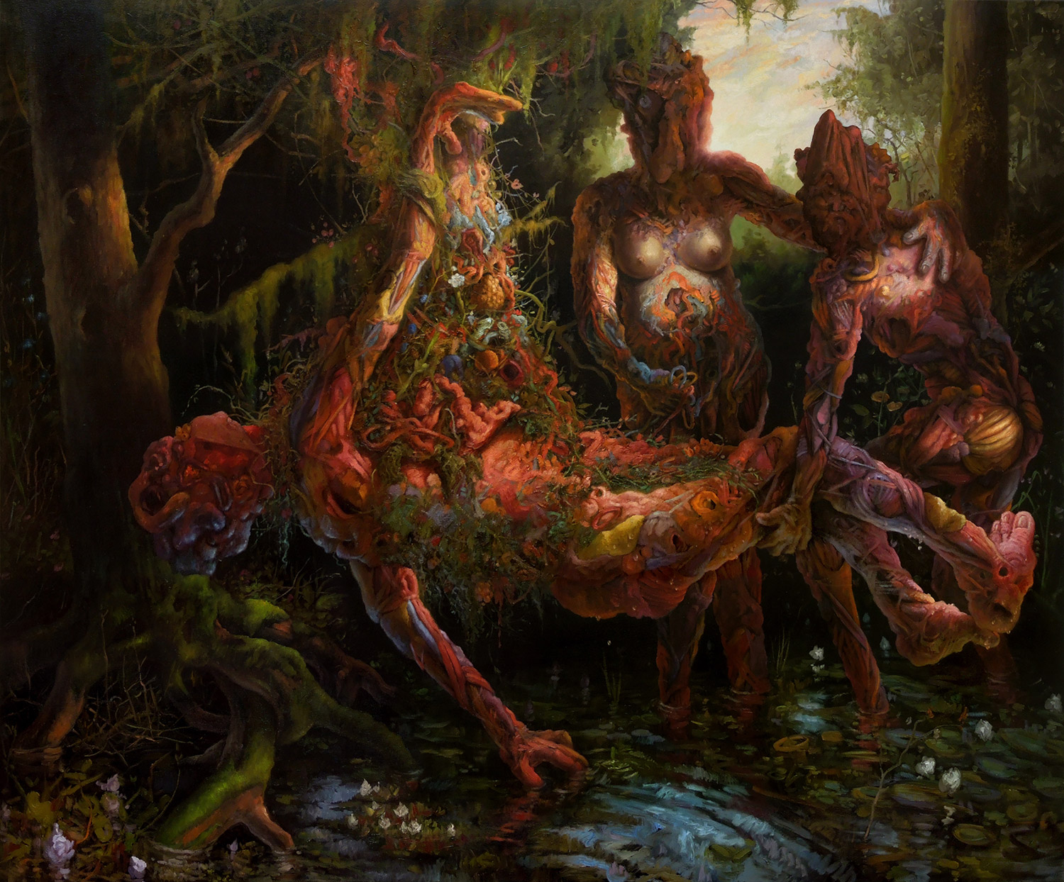 Adrian Cox, painting - Amniotic Paradise smaller size