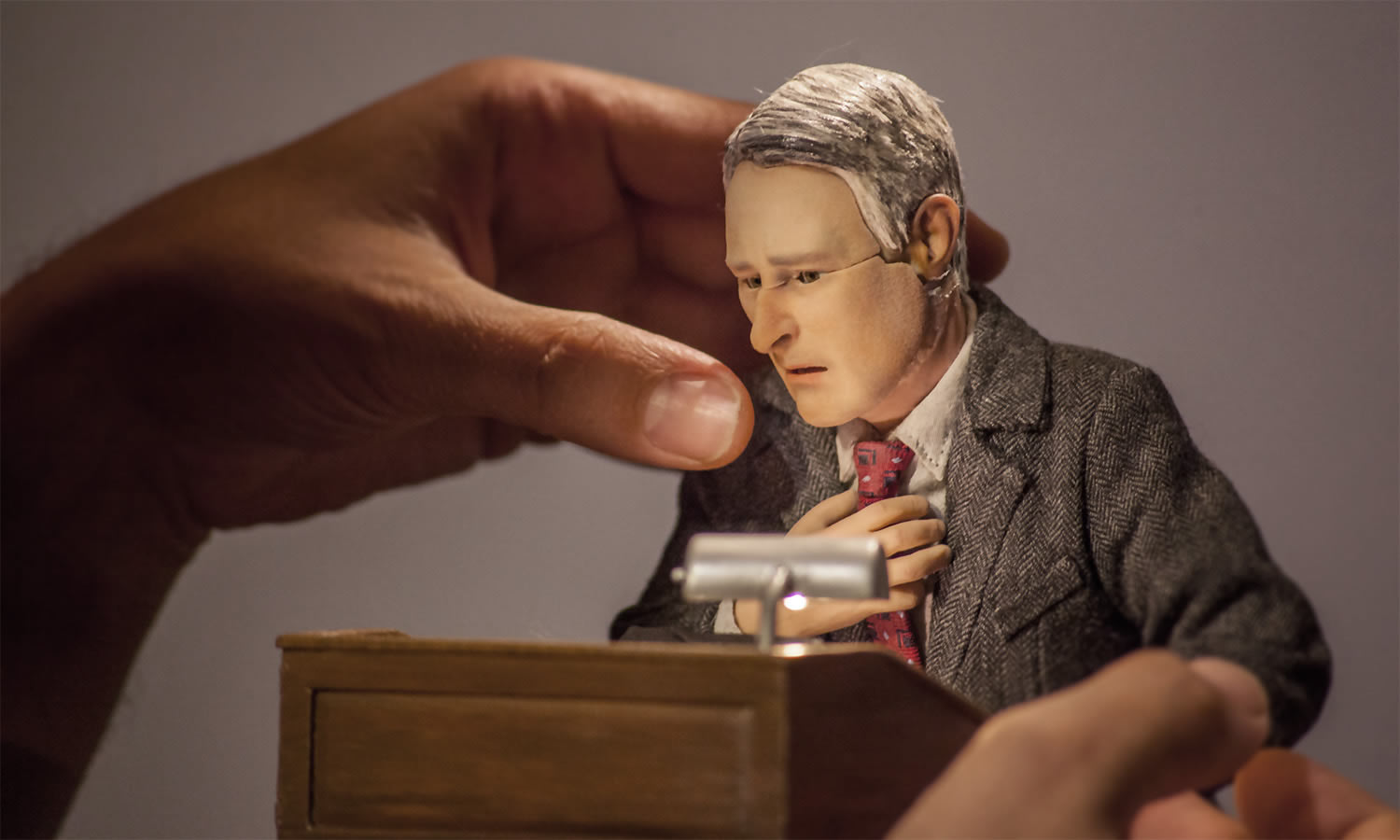 man giving a speech, animation, anomalisa
