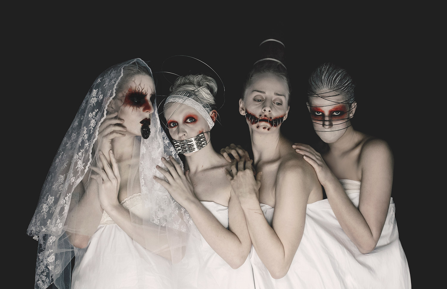 Eliza Kinchington, Danse Macabre - group shot all wearing white