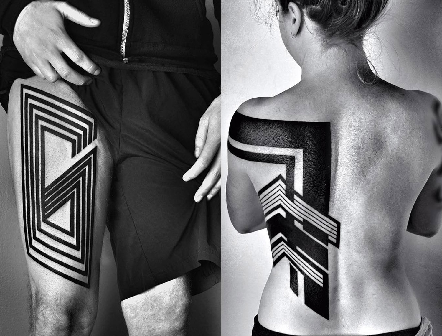 clean geometric tattoos by ben volt