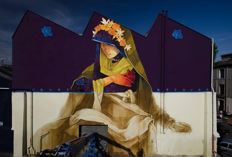 """La Madre Secular"" Marseille / France 2016. graffiti by inti"