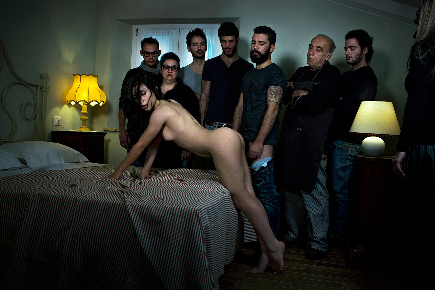Marco Onofri, Followers - watching woman leaning over bed
