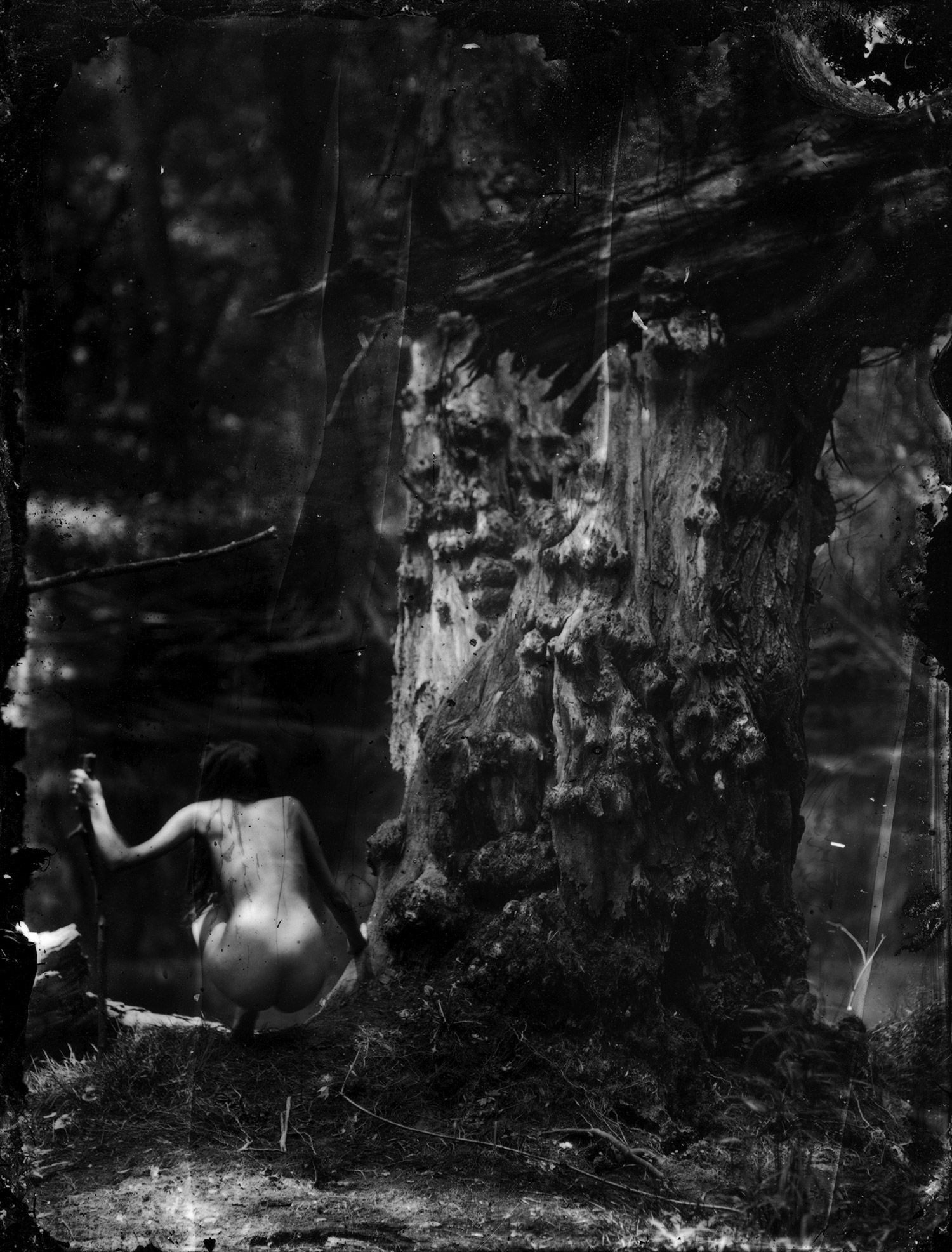 Rik Garrett, Earth Magic - woman sitting beneath large tree