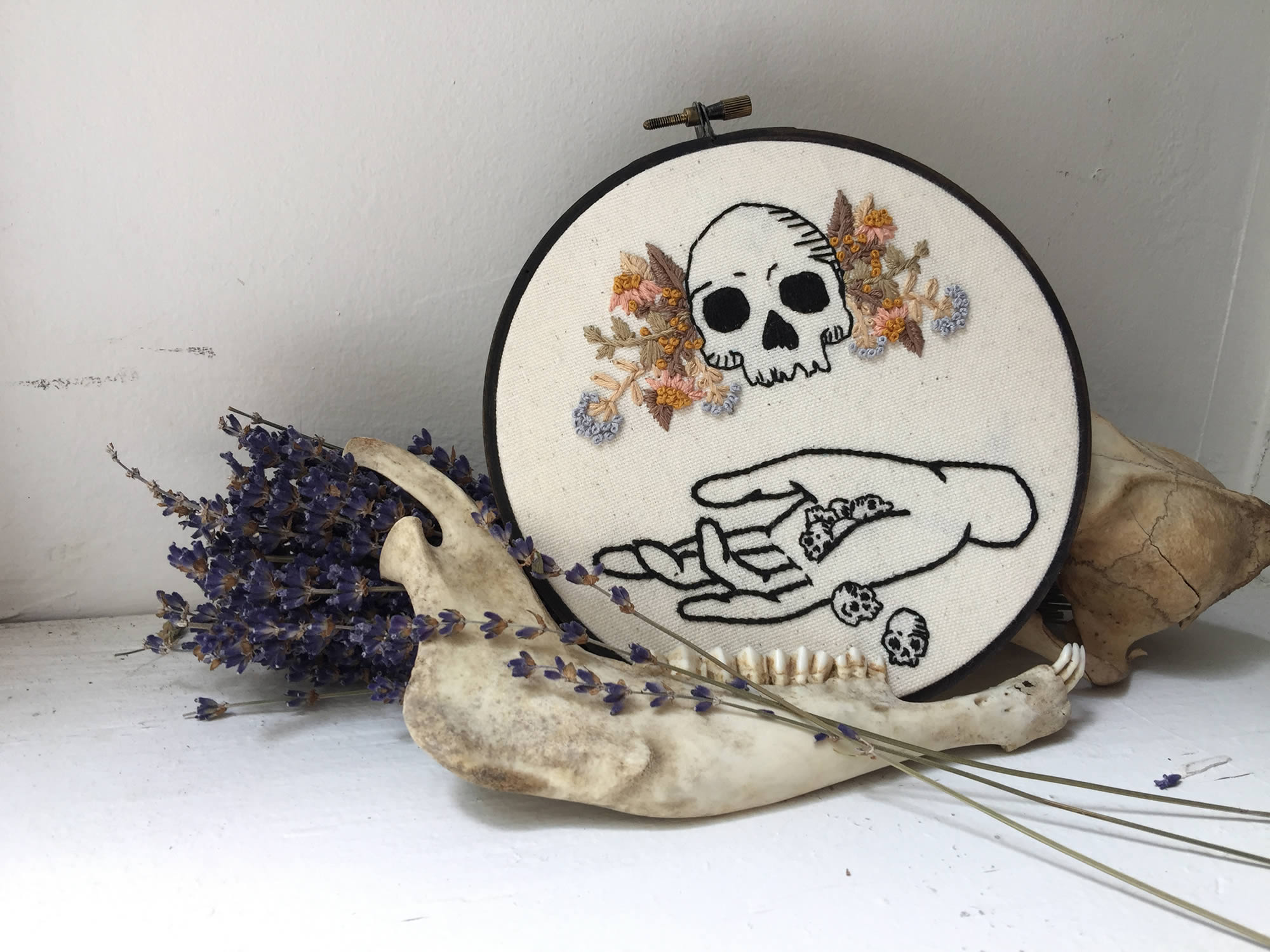 "Self-Proclaimed ""Creepster"" Rachel Dreimiller Has a Gift for Spooky Embroidery"