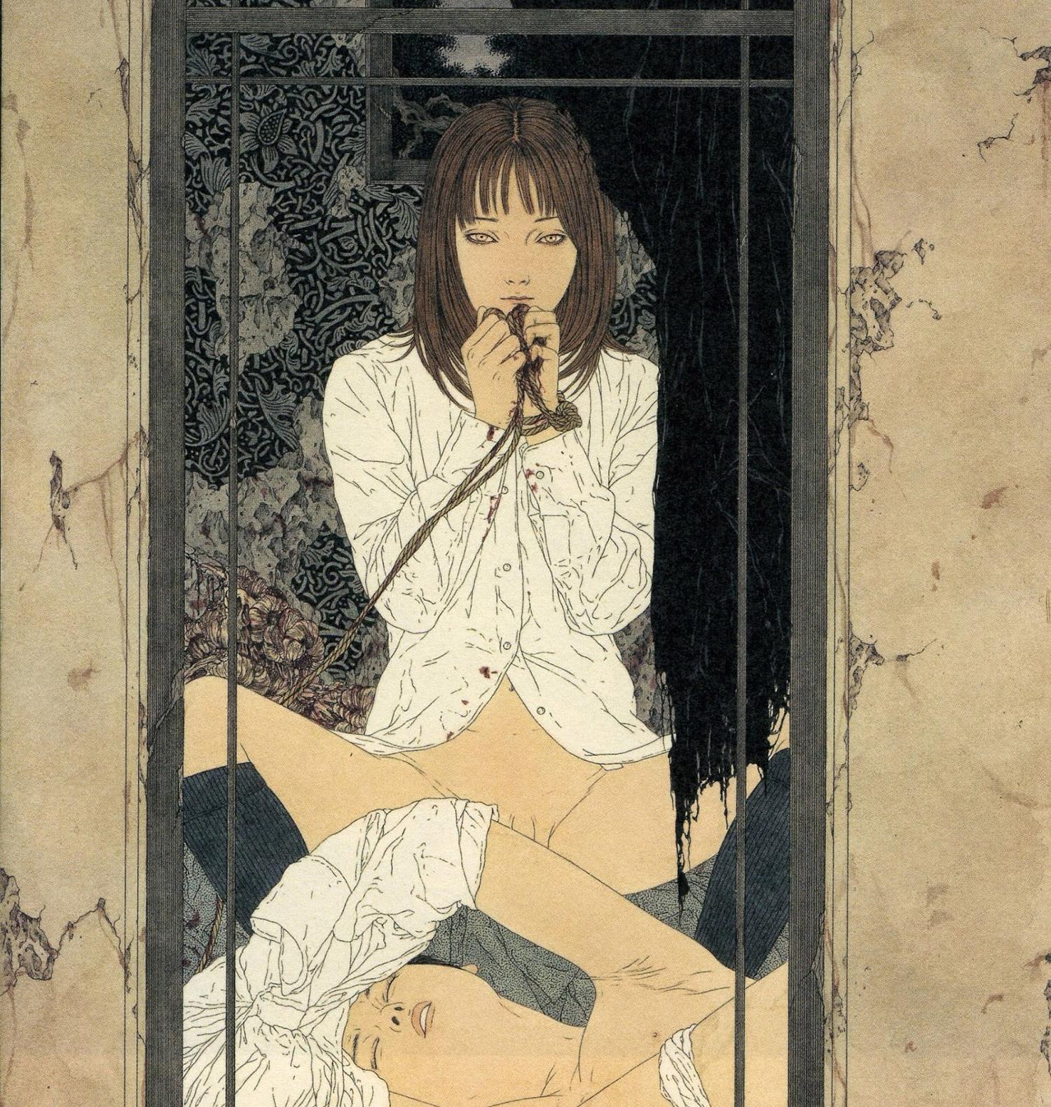 Takato Yamamoto - woman holding ropes