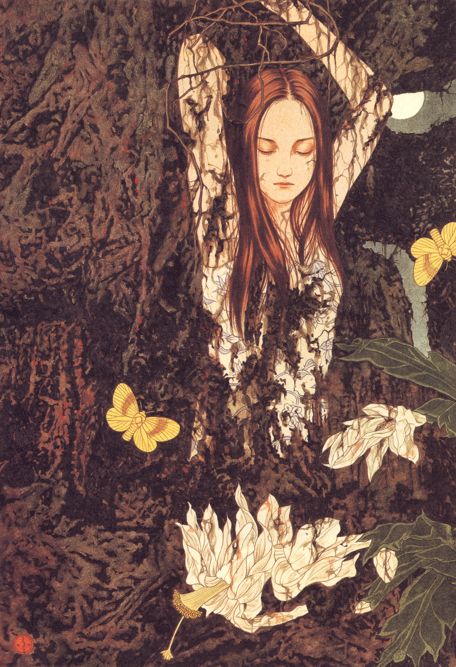 Takato Yamamoto - woman in branches