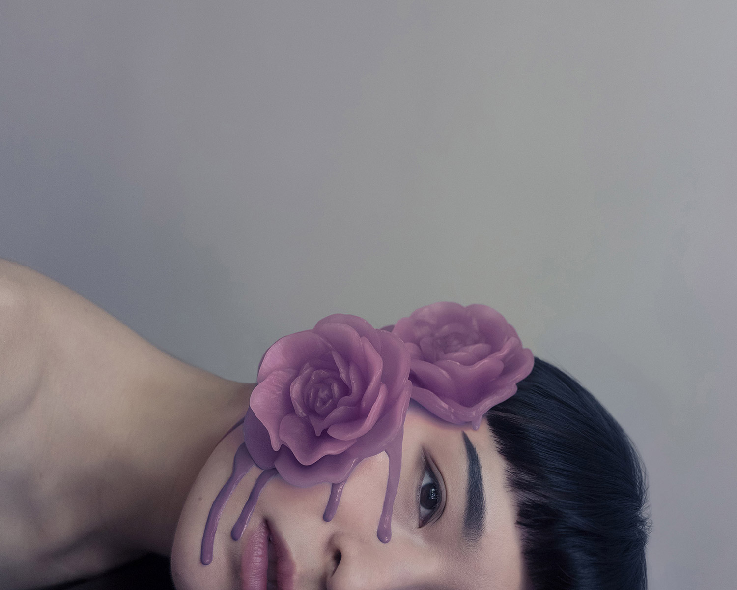 Brooke DiDonato, Roses - purple roses on face