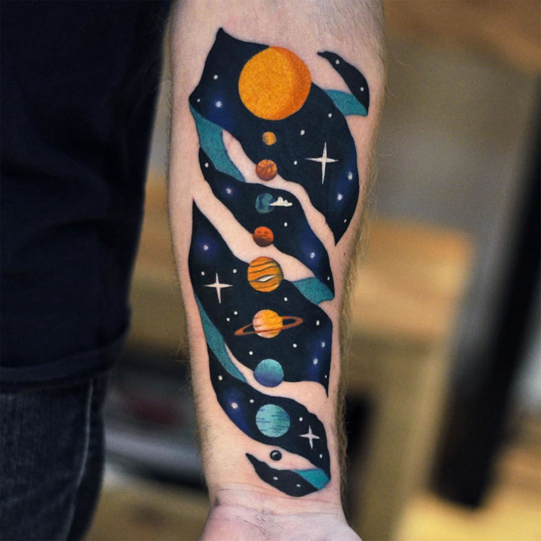 planetary system tattoo