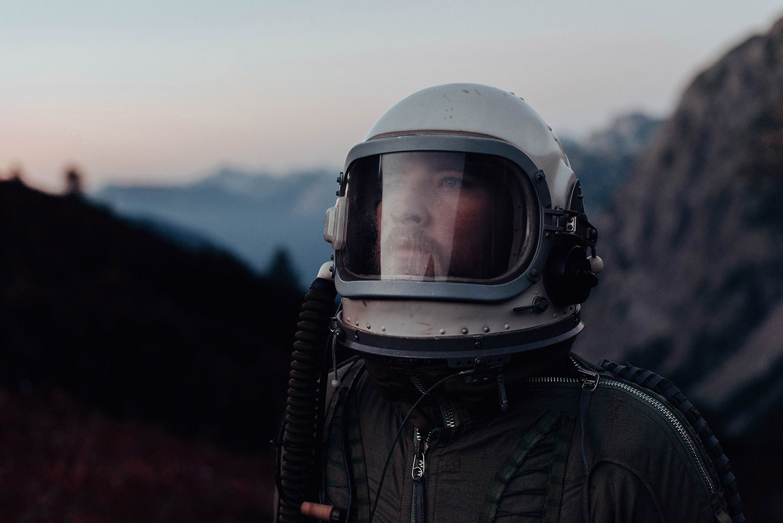 David Schermann, Bigger than Us - astronaut looking skywards