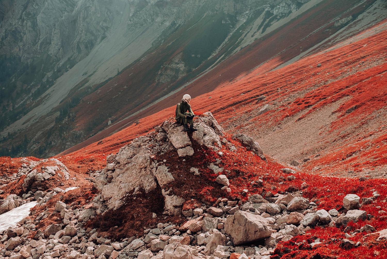 David Schermann, Bigger than Us - sitting in landscape