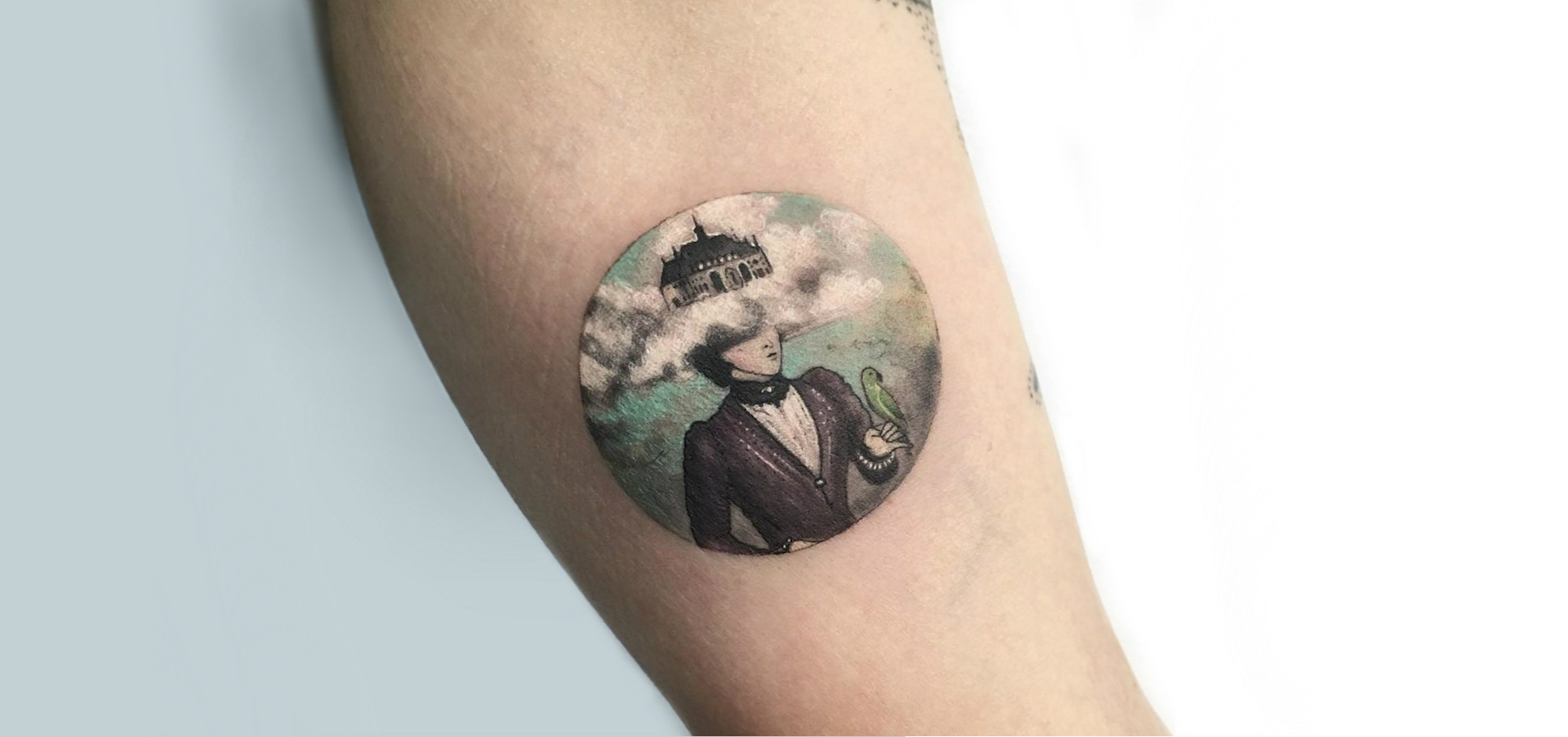 Miniature Tattoo Scenes by Eva Krbdk