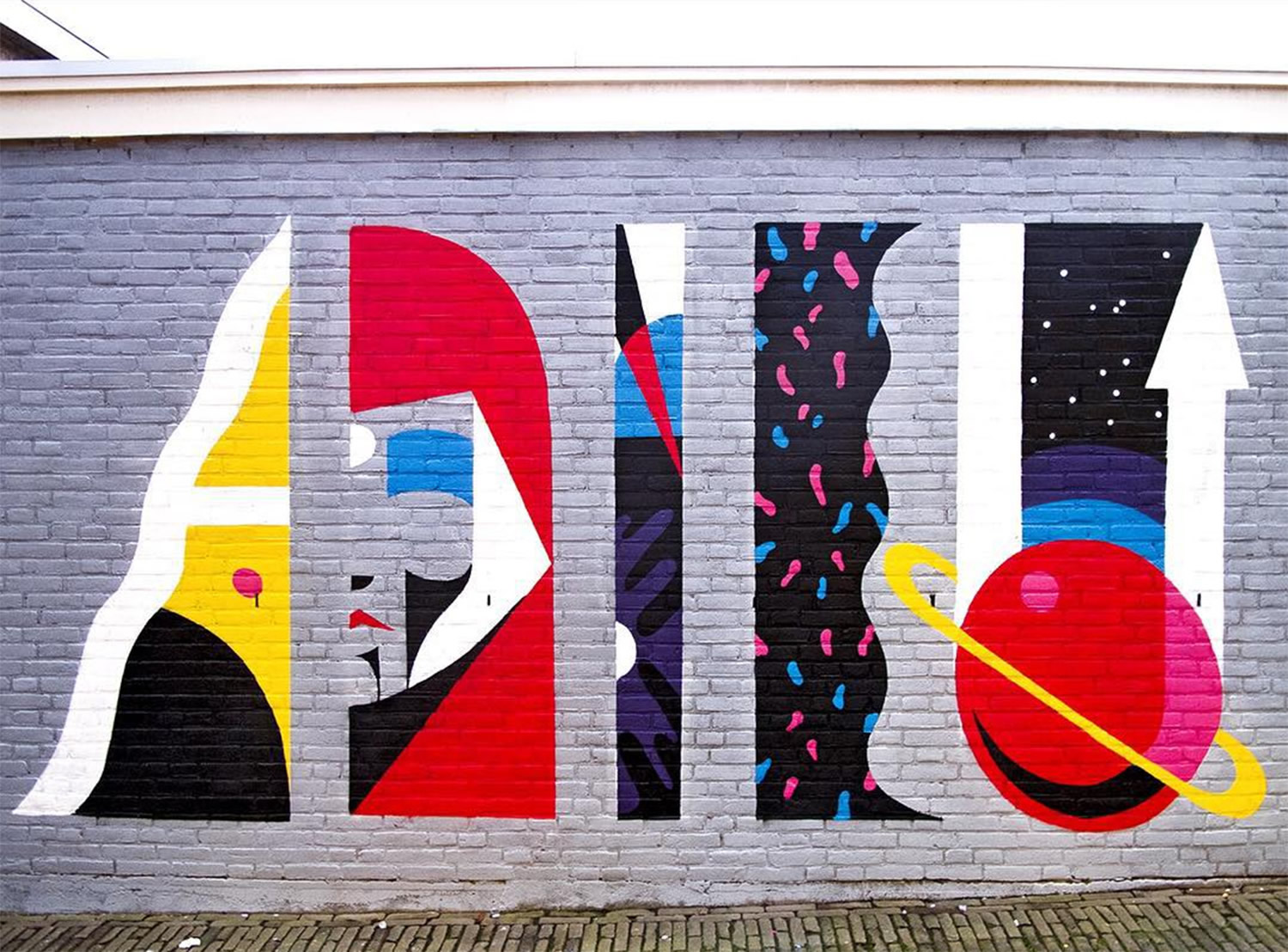 abstract street art by luca font