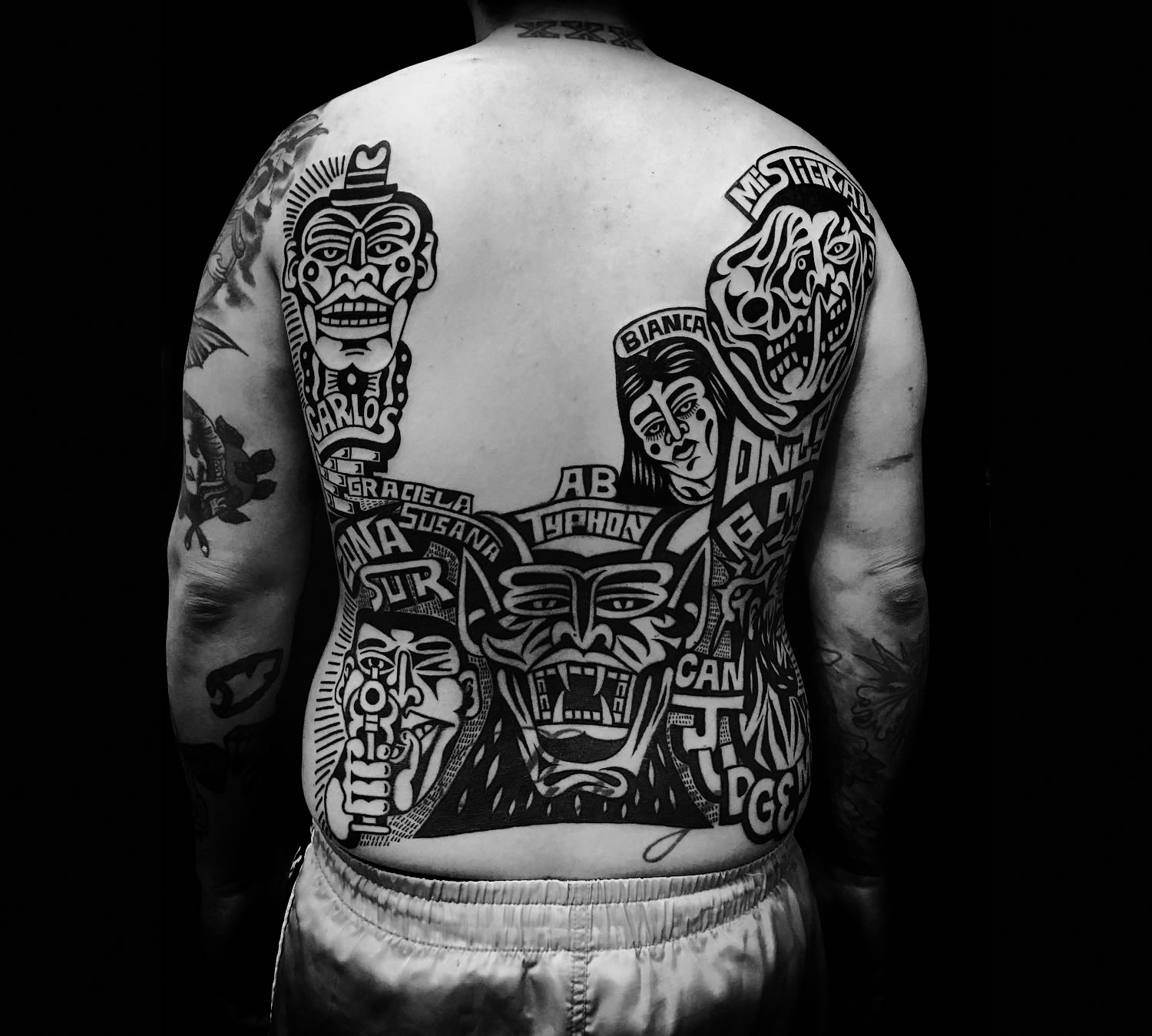 back tattoo by luxiano street classic