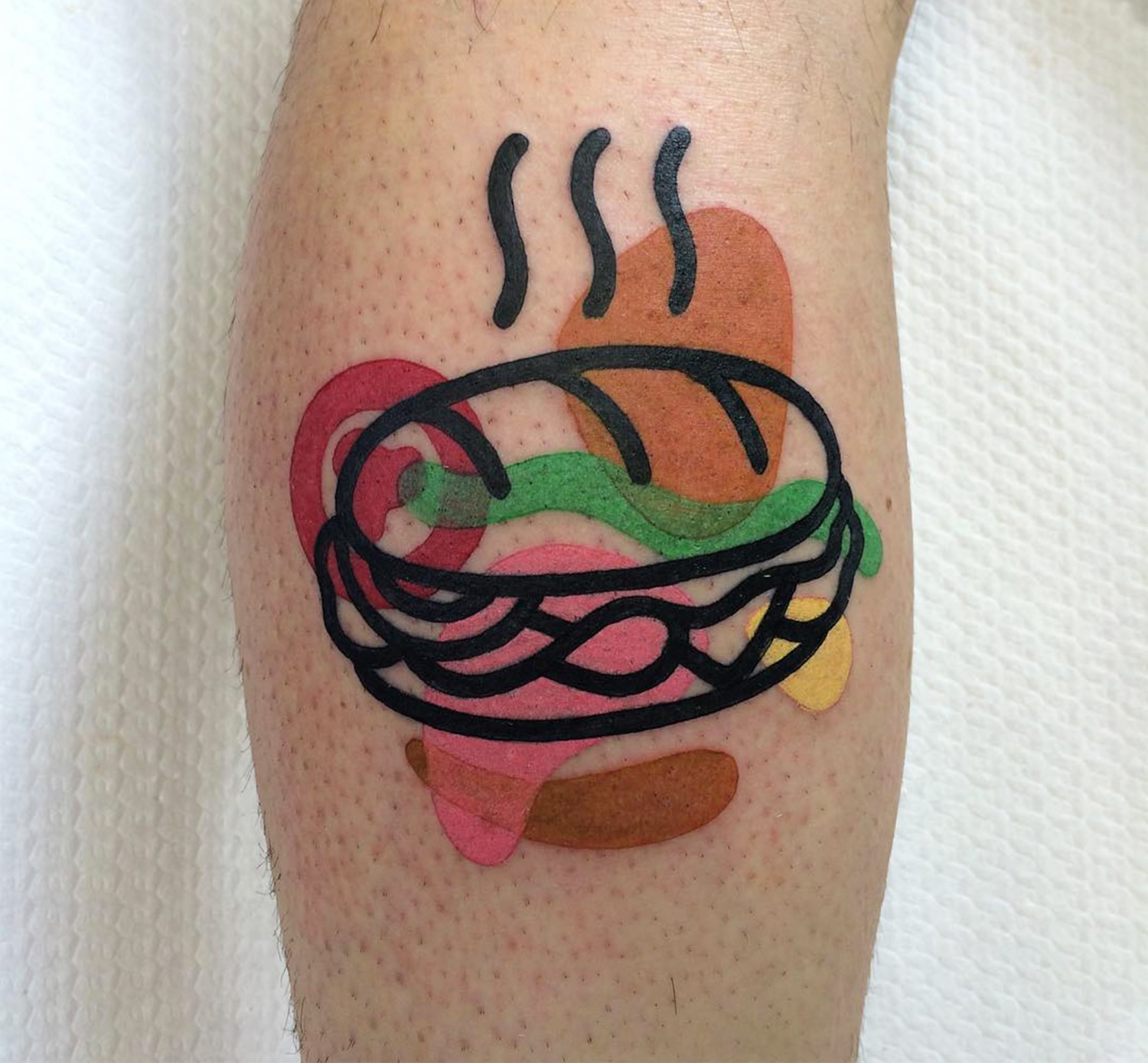 hot sandwich tattoo