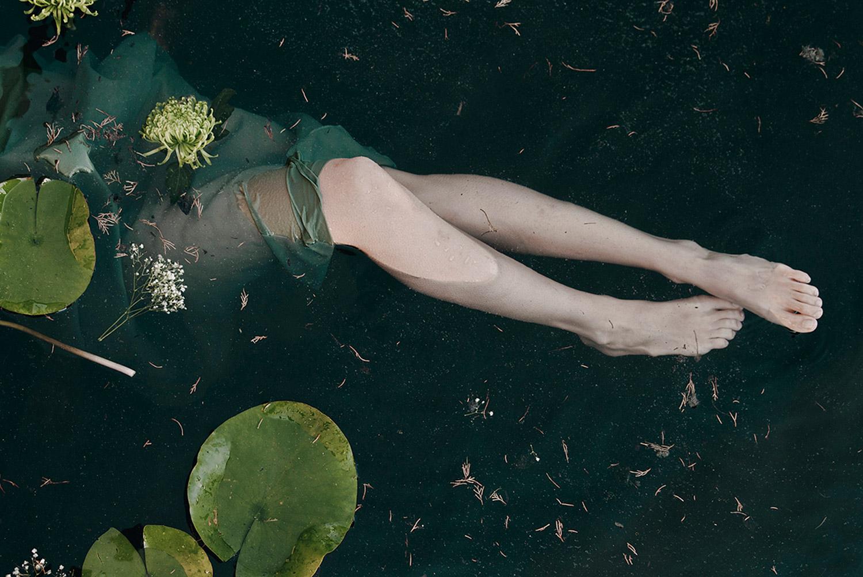 Monia Merlo - green dress