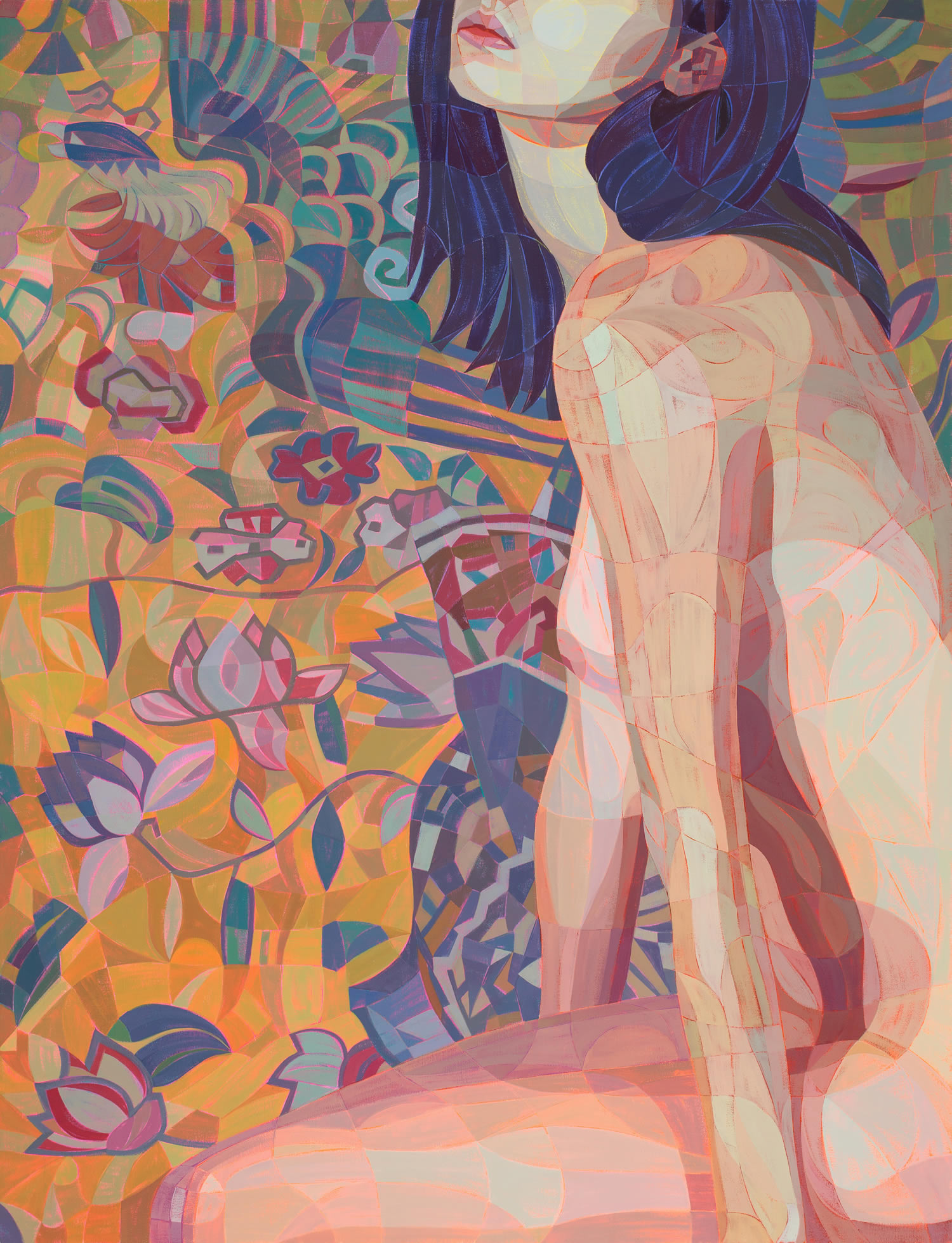 color painting, nude art by Lui Ferreyra
