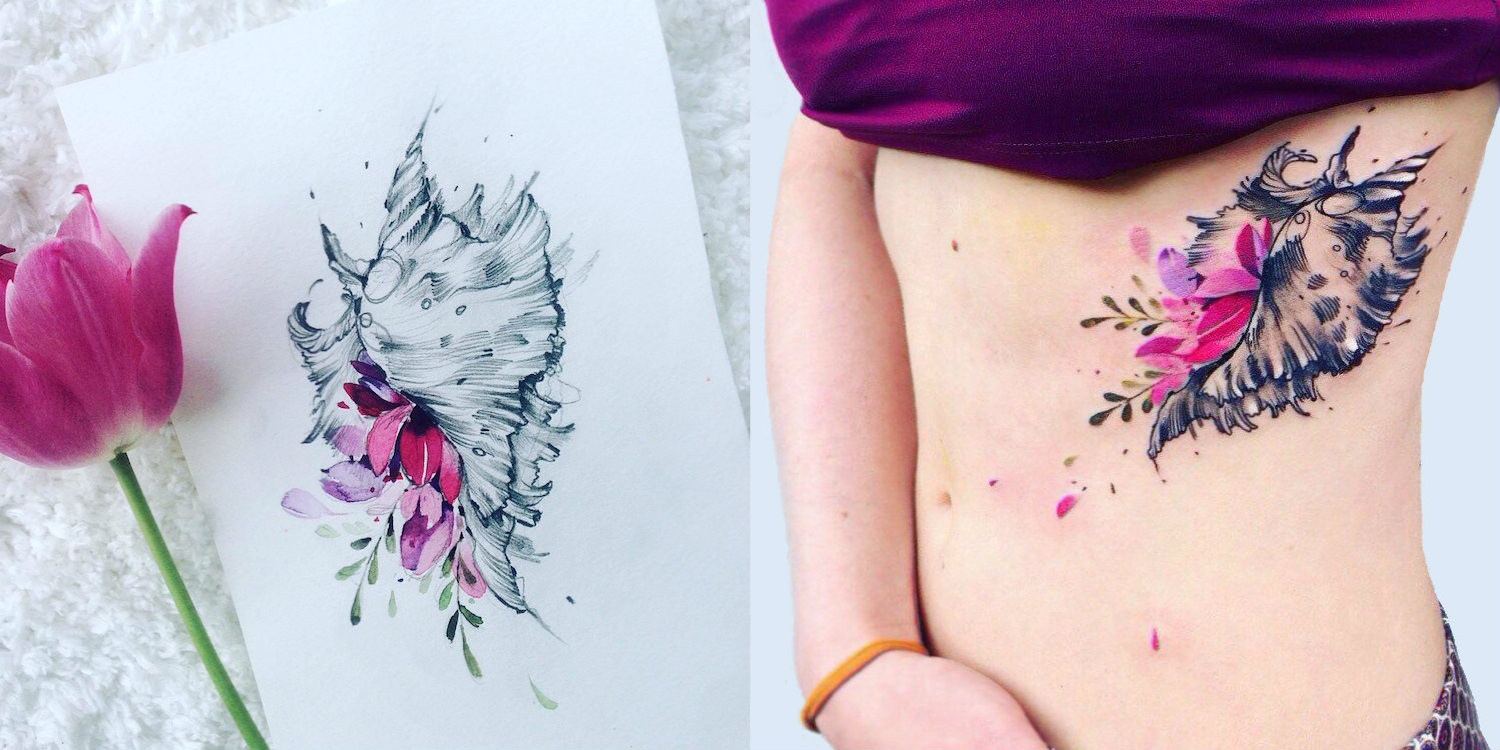Pis Saro Botanical Painting Tattoo