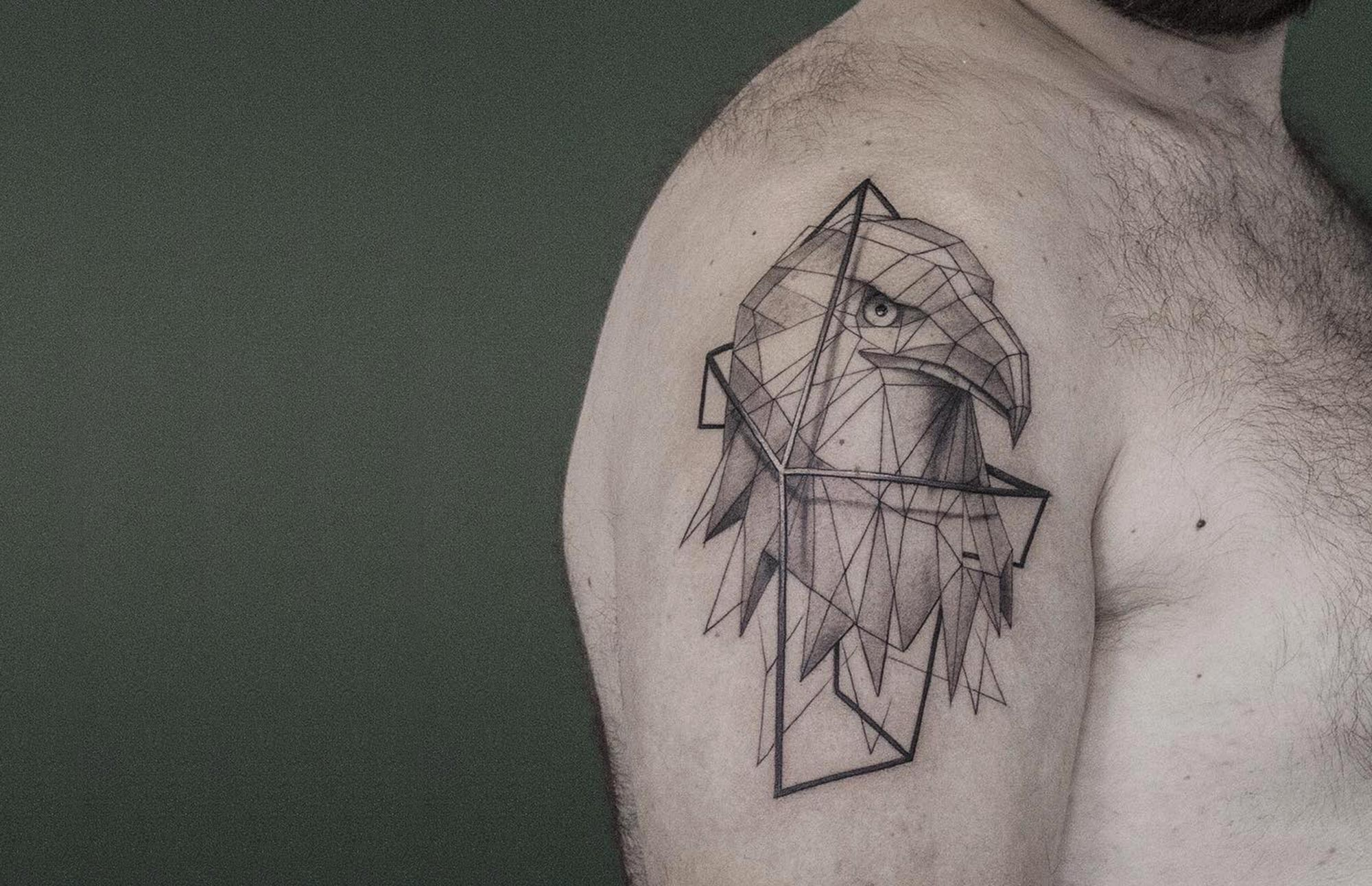 3D bird tattoo by Sven Rayen
