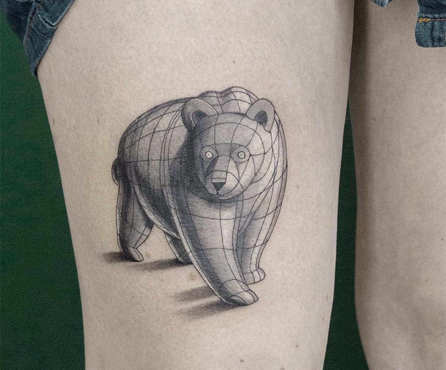 3d polar bear tattoo
