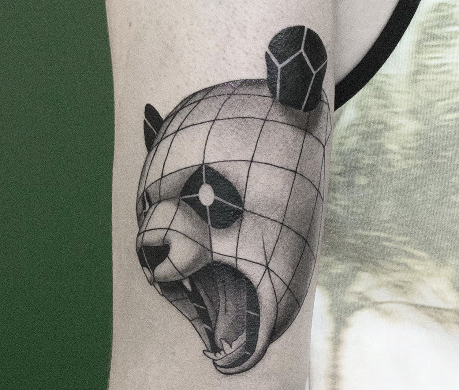 3D panda tattoo by Sven Rayen